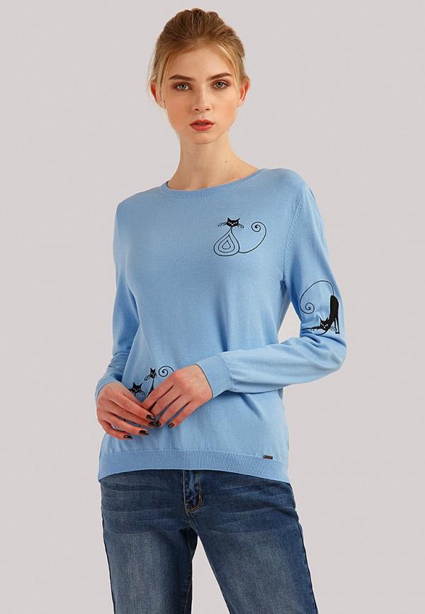 женский джемпер finn flare, голубой
