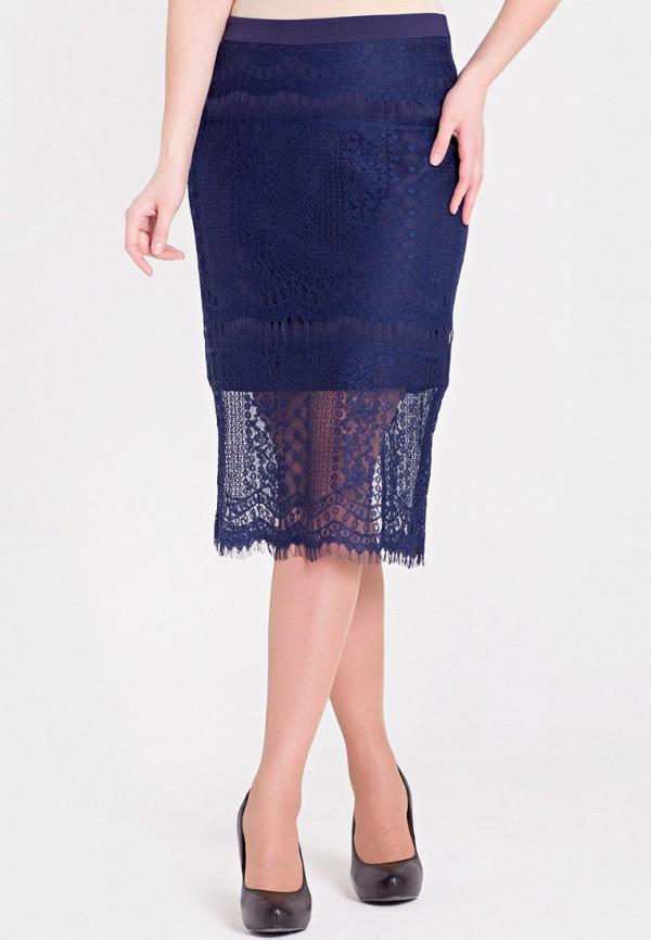 женская прямые юбка filigrana, синяя