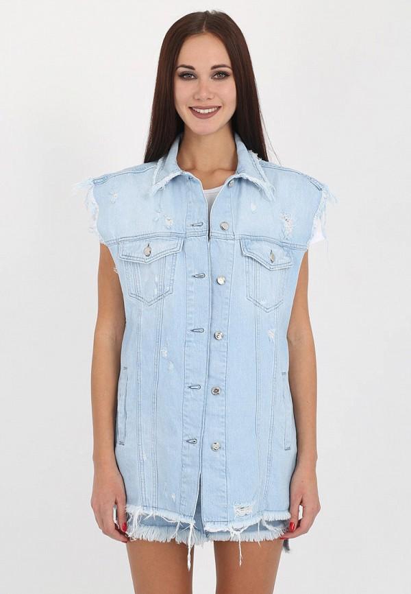 женский джинсовые жилет whitney, голубой