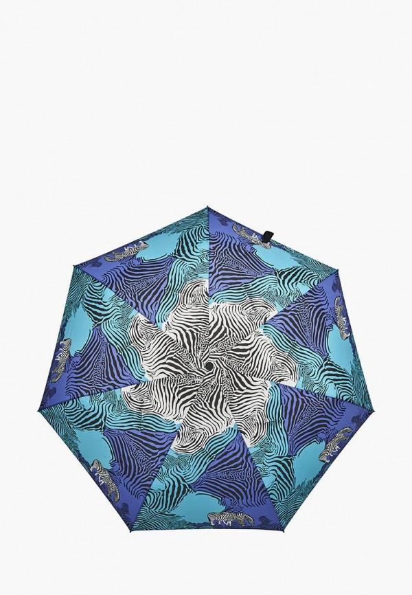 женский складные зонт henry backer, синий