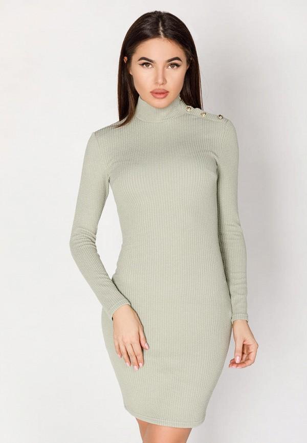 женское платье-футляр gepur, зеленое