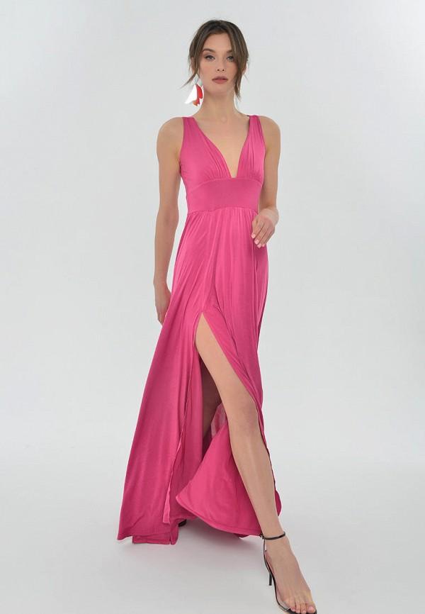 женское вечерние платье mondigo, розовое
