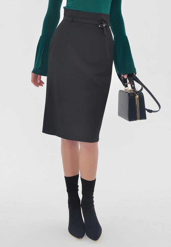женская прямые юбка mondigo, черная