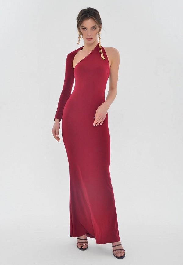 женское вечерние платье mondigo, бордовое