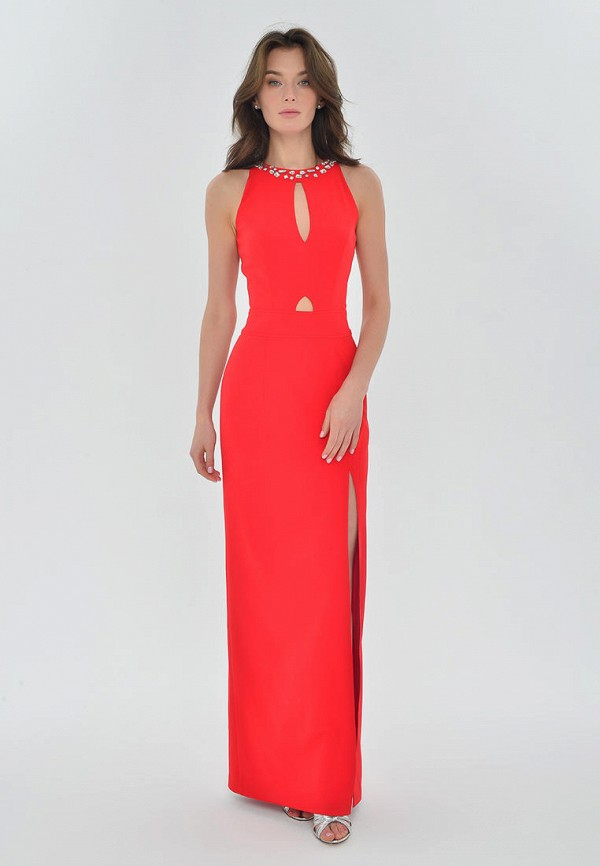 женское вечерние платье mondigo, красное