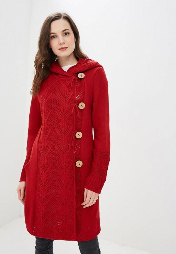 женский кардиган milana style, красный
