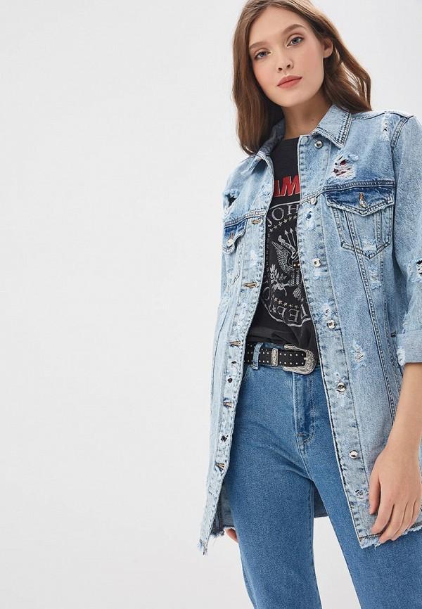 женская джинсовые куртка whitney, голубая
