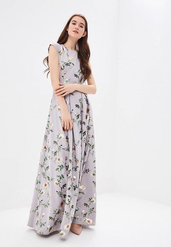 женское вечерние платье ksenia knyazeva, серое