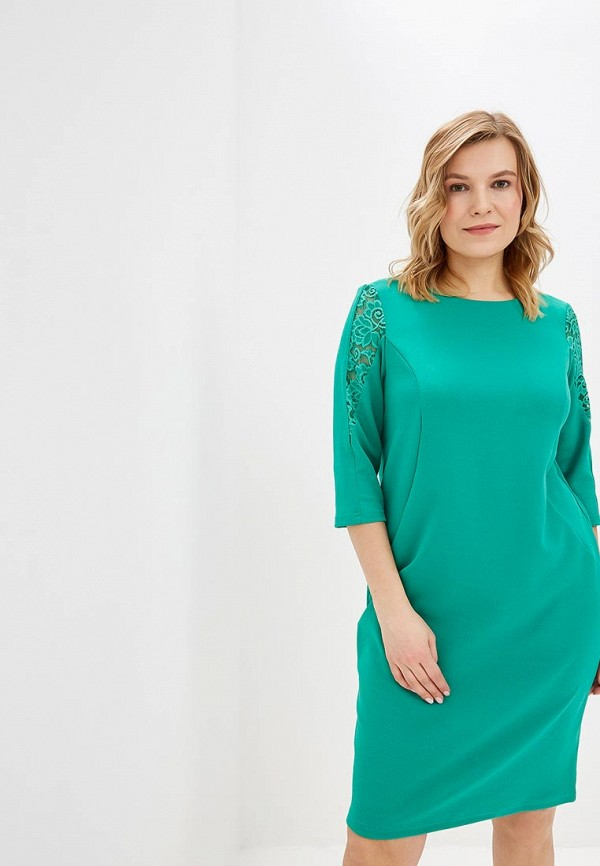 женское повседневные платье olsi, зеленое