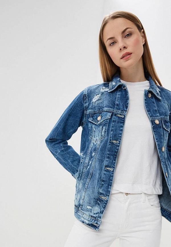 женская джинсовые куртка whitney, синяя