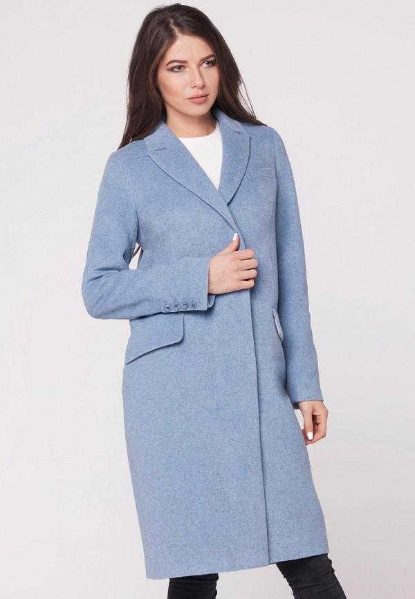 женское пальто florens, голубое