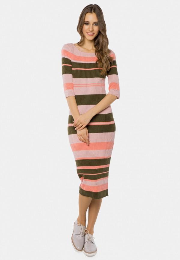 женское платье-футляр mr520, розовое