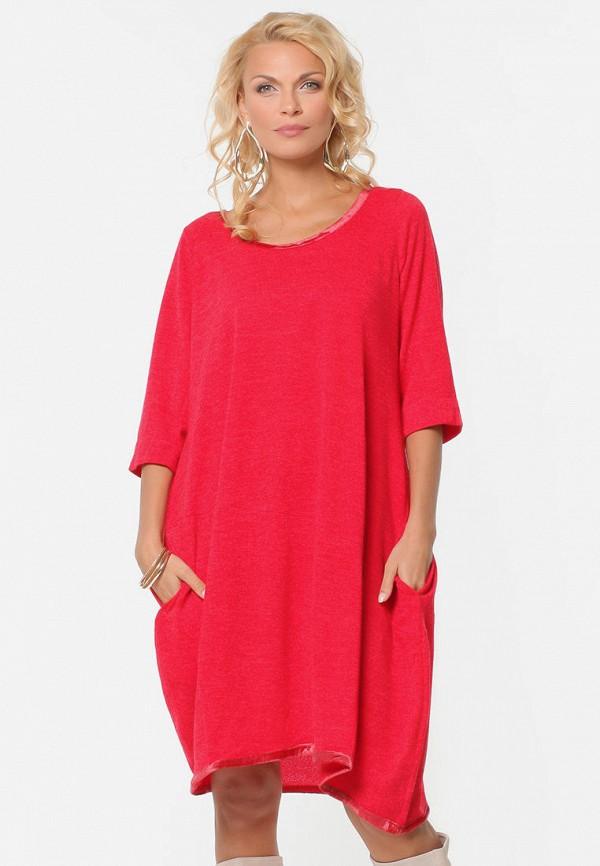 женское платье миди kata binska, красное
