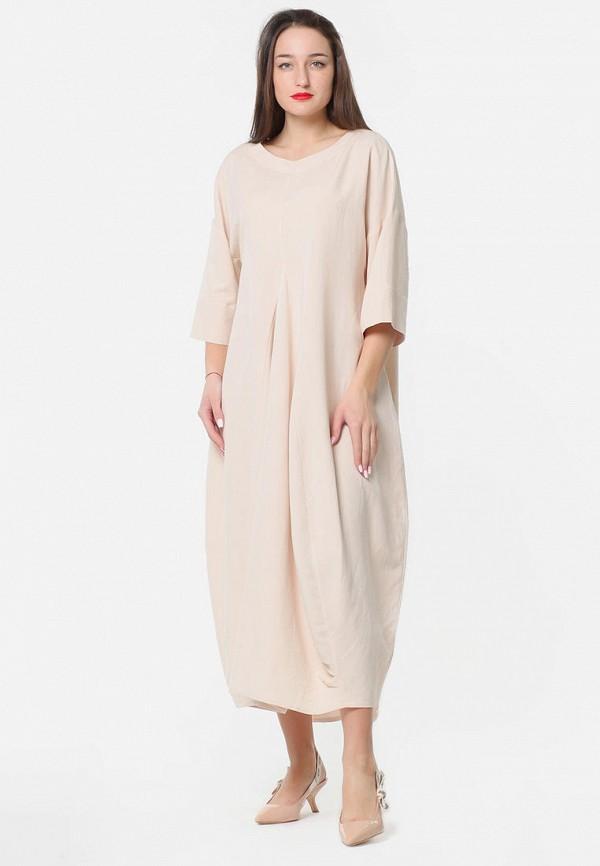 женское платье макси kata binska, бежевое