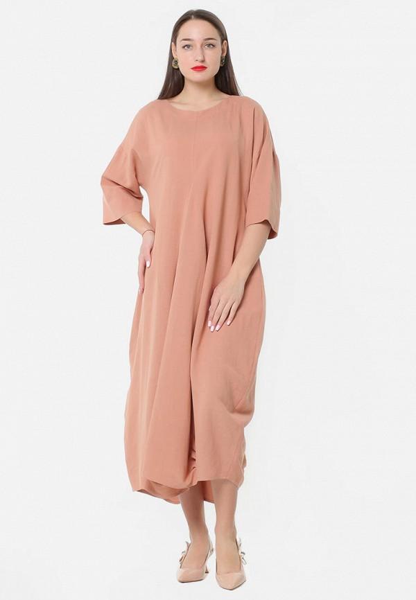женское платье макси kata binska, розовое