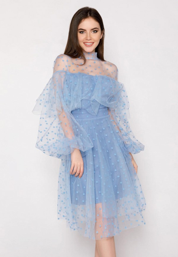 женское вечерние платье gepur, голубое