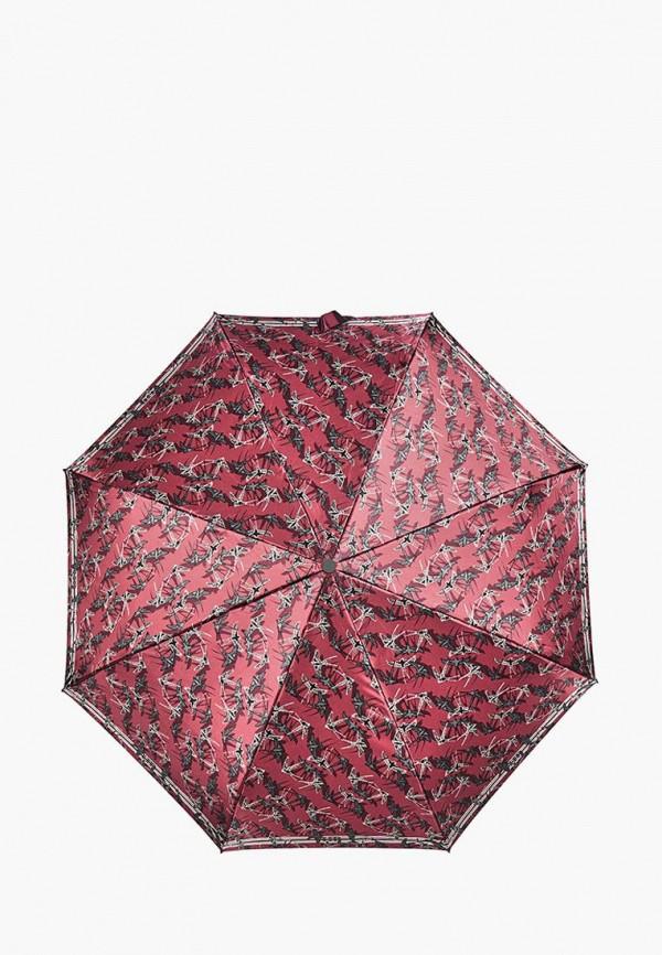 женский складные зонт henry backer, красный