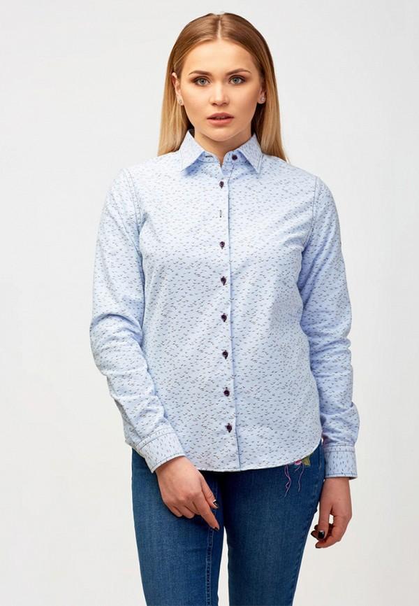 женская рубашка с длинным рукавом campione, голубая