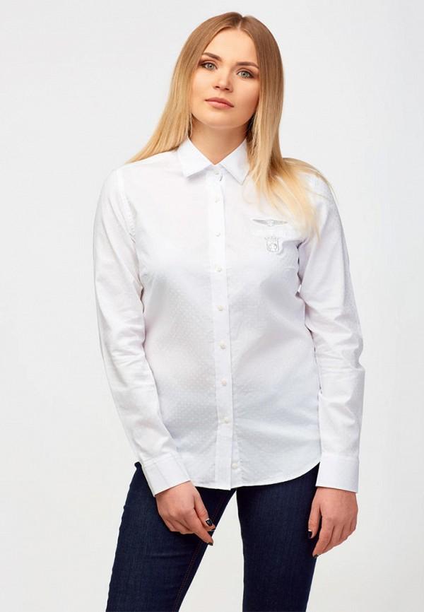 женская рубашка с длинным рукавом campione, белая