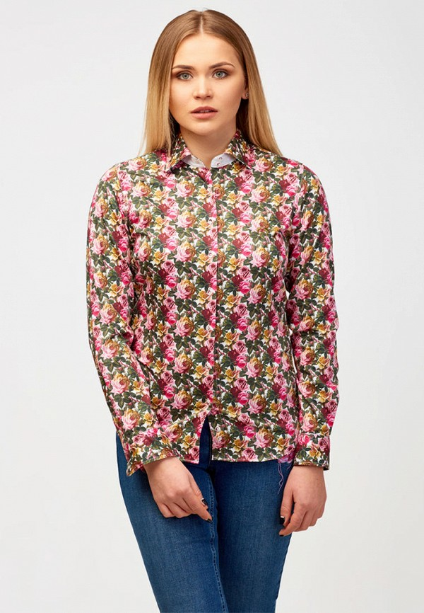 женская рубашка с длинным рукавом campione, разноцветная