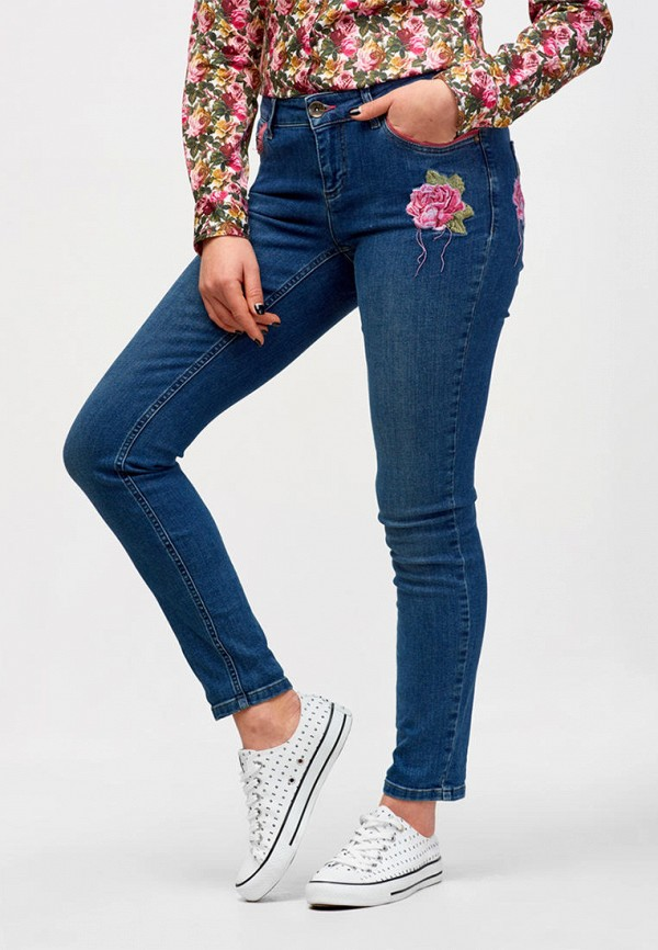 женские джинсы campione, голубые