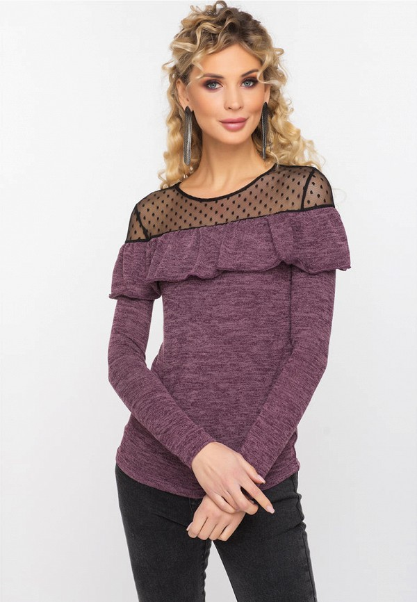 женский джемпер gloss, фиолетовый