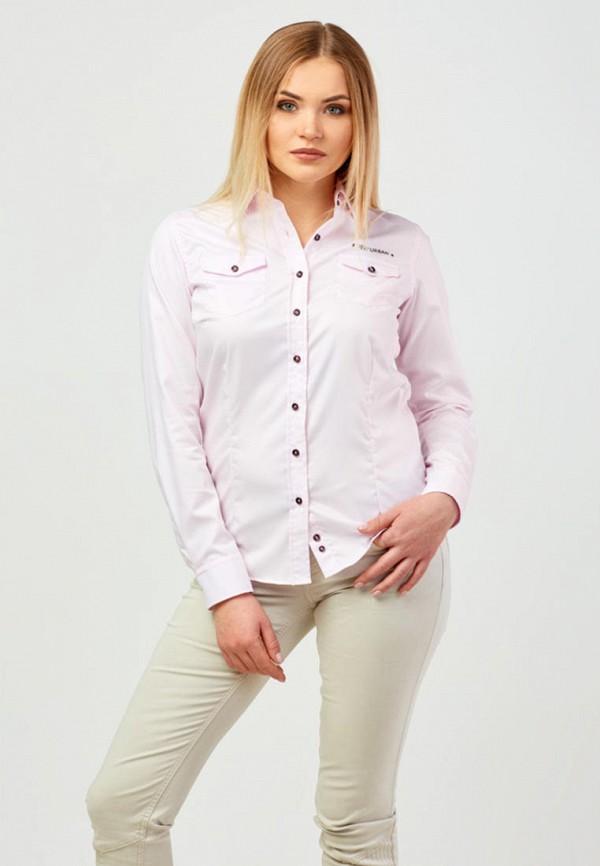 женская рубашка с длинным рукавом campione, розовая