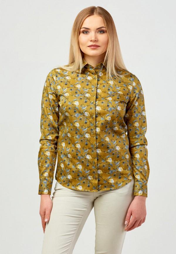 женская рубашка с длинным рукавом campione, желтая