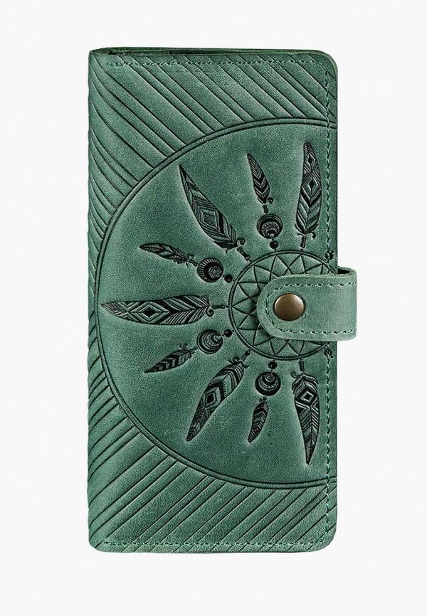 женский кошелёк blanknote, зеленый