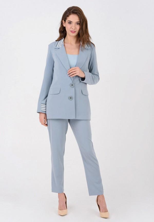 женский костюм ricamare, голубой