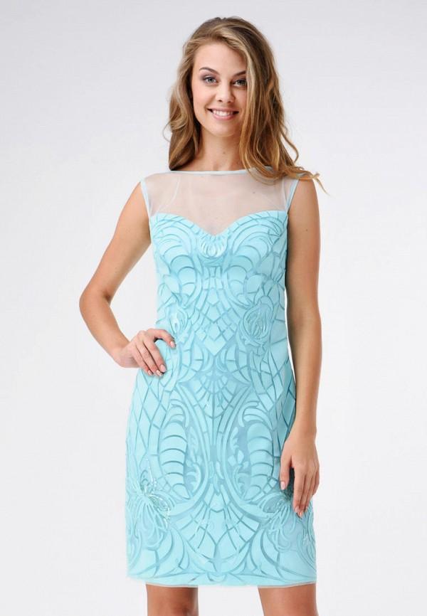 женское вечерние платье ricamare, бирюзовое