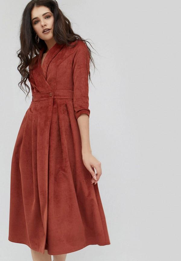 женское платье cardo, оранжевое