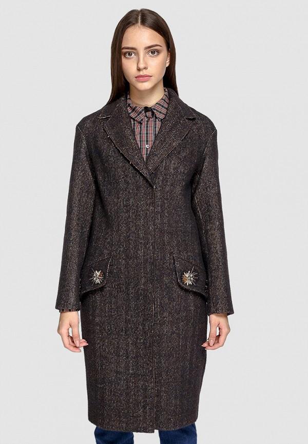 женское пальто dolcedonna, коричневое