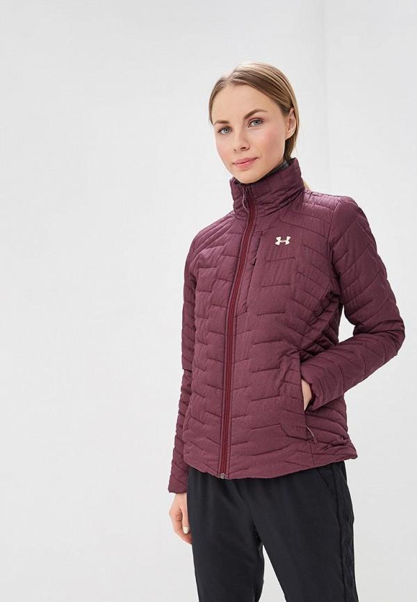женская куртка under armour, бордовая