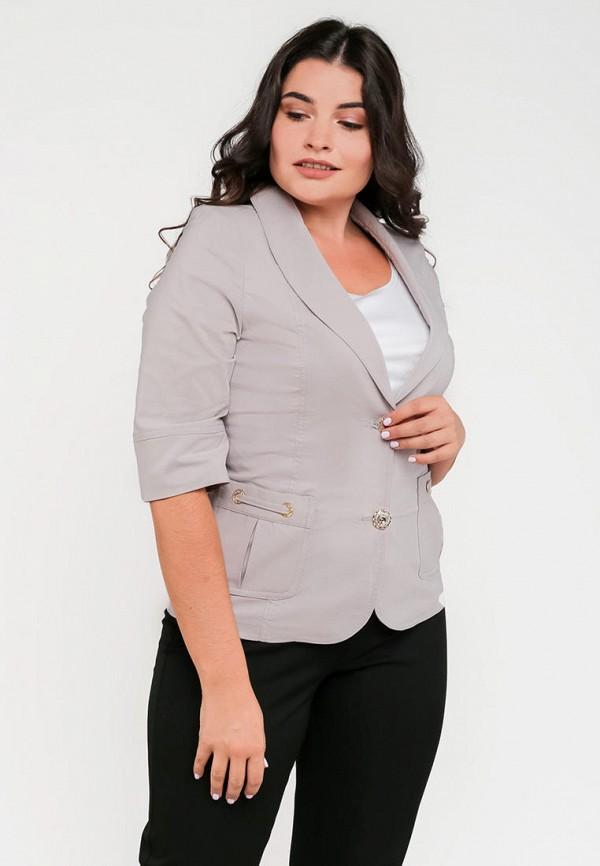 женский жакет modniy oazis, серый