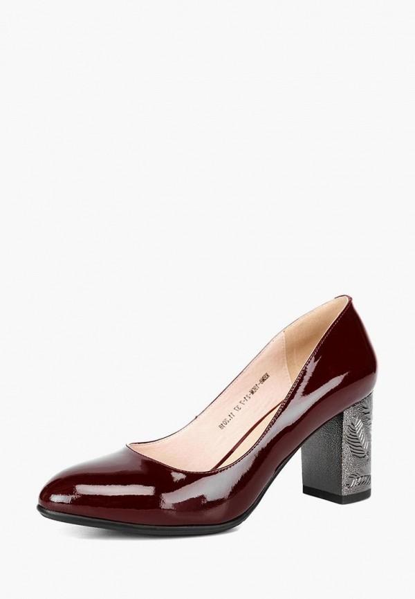 женские туфли lisette, бордовые