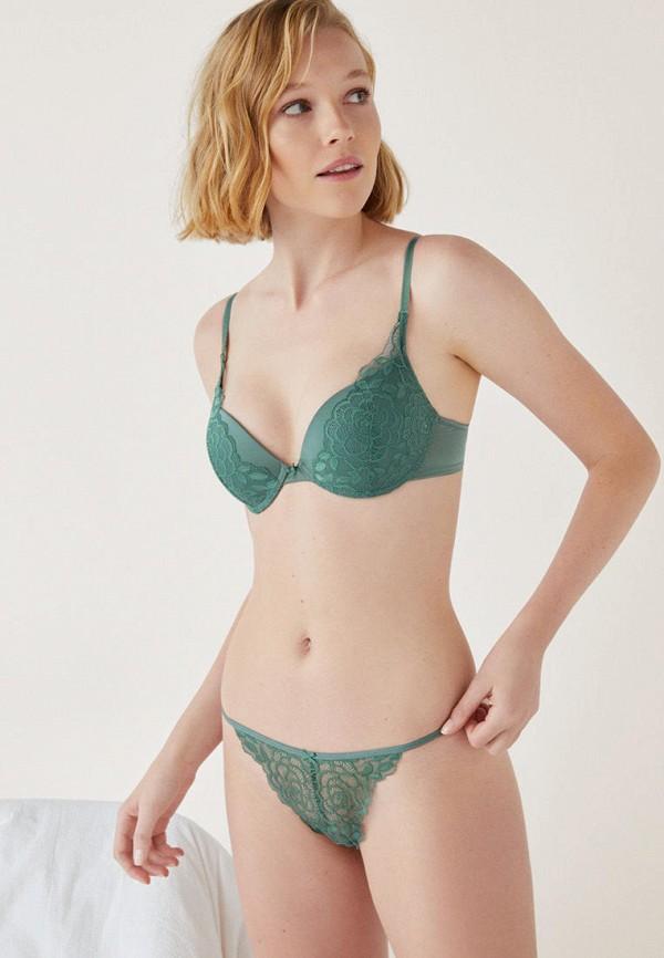 женские трусы women'secret, зеленые