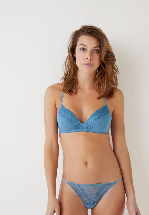 женские трусы-стринги women'secret, голубые