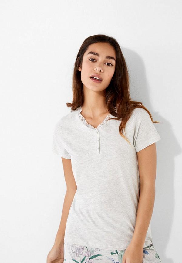 женская футболка women'secret, серая