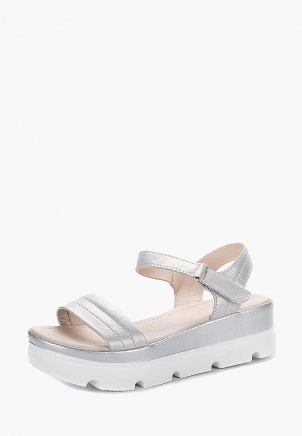 женские сандалии lisette, серебряные