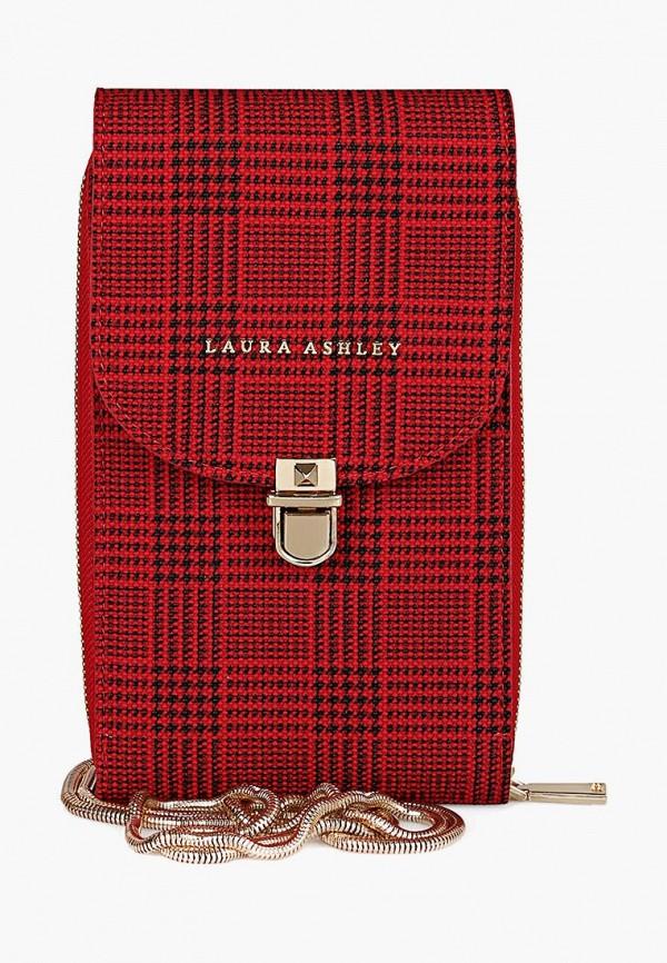 женская сумка laura ashley, красная