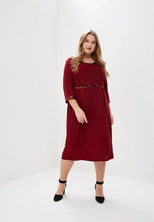 женское вечерние платье prewoman, бордовое