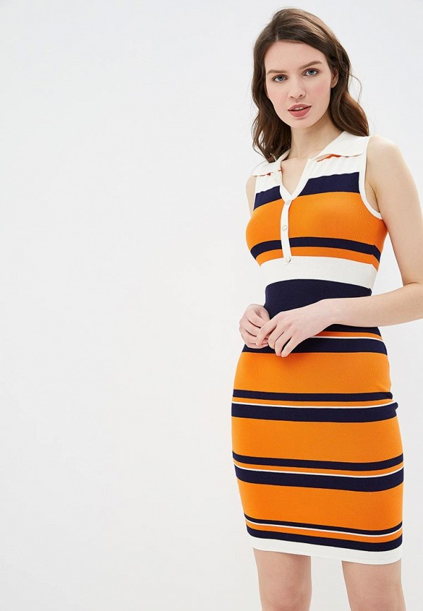 женское повседневные платье conso wear, оранжевое