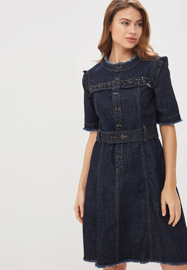 Платье джинсовое Lusio Lusio MP002XW1IM0H