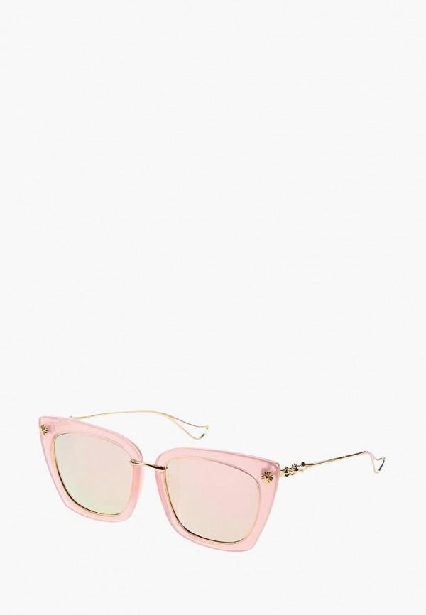 женские солнцезащитные очки кошачьи глаза vittorio richi, розовые