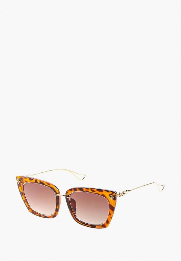 женские солнцезащитные очки кошачьи глаза vittorio richi, коричневые