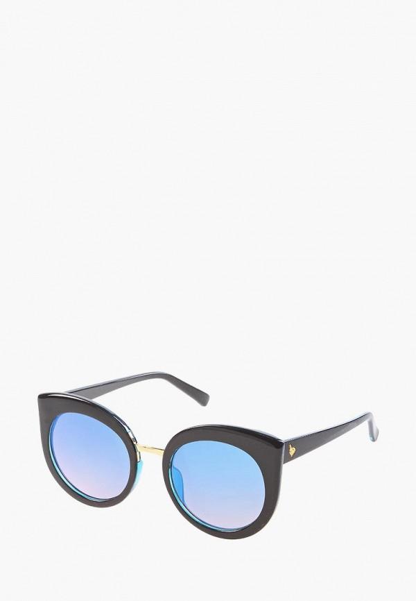 женские солнцезащитные очки кошачьи глаза vittorio richi, голубые