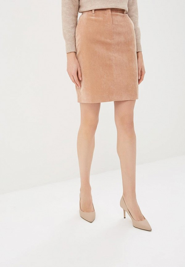 Юбка Ruxara Ruxara MP002XW1IMYV юбка трика бежевый оранжевый 54 размер
