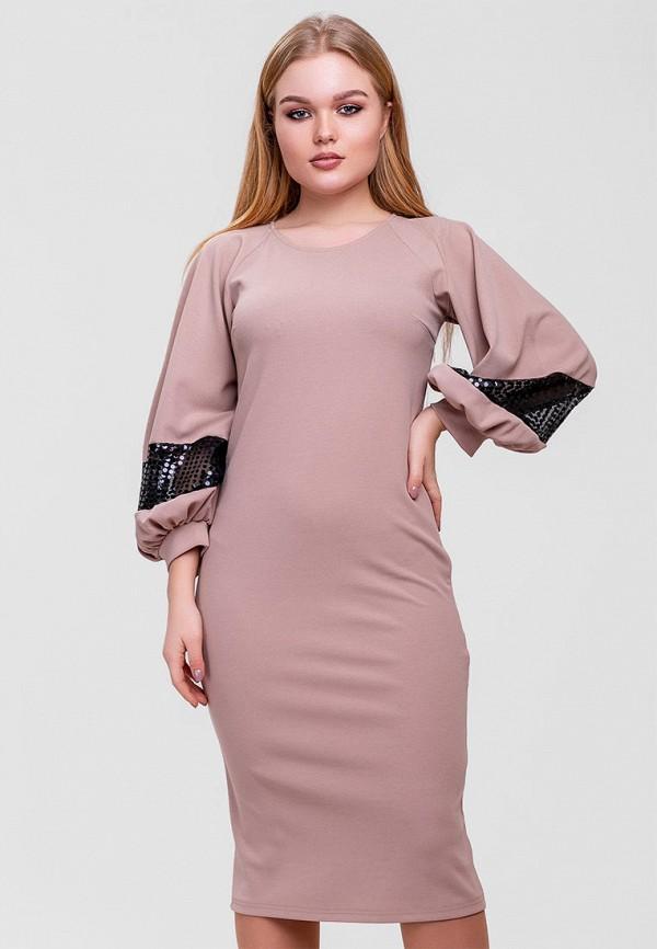 Фото - Женское платье SFN бежевого цвета