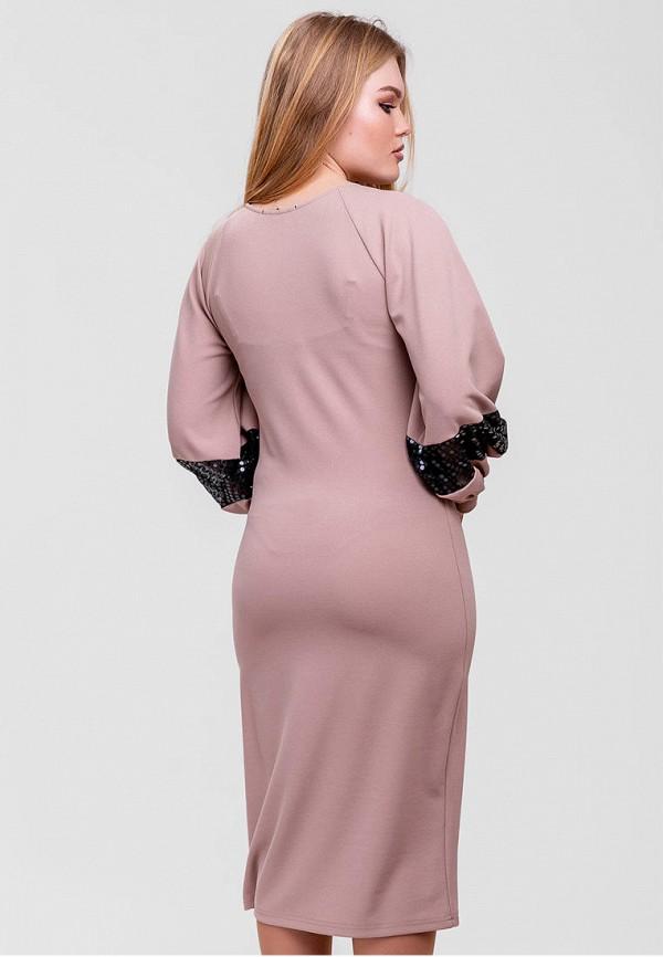 Фото 3 - Женское платье SFN бежевого цвета